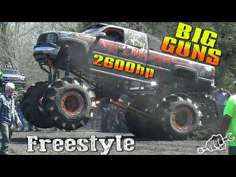 2600hp BIG GUNS MUD TRUCK FREESTYLE
