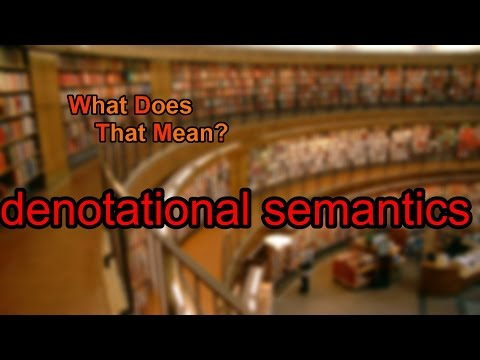 What does denotational semantics mean?