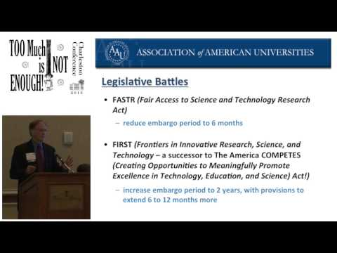 2013 Plenary: What Provosts Want Librarians to Know (John Vaughn, Assoc of American Universities)