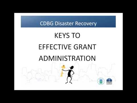 CDBG-DR Training: Keys to Effective Grant Administration