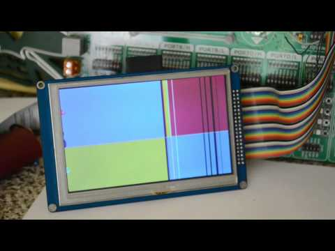 """5"""" & 7"""" Inch TFT 800x480 16 Bit wiring and code for SSD1963"""