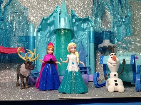 Elsa's Ice Lightup Palace Featuring Olaf Toy Unboxing and Review