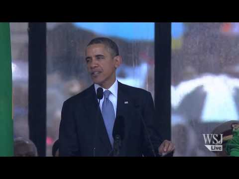 President Obama Speaks at Nelson Mandela's...