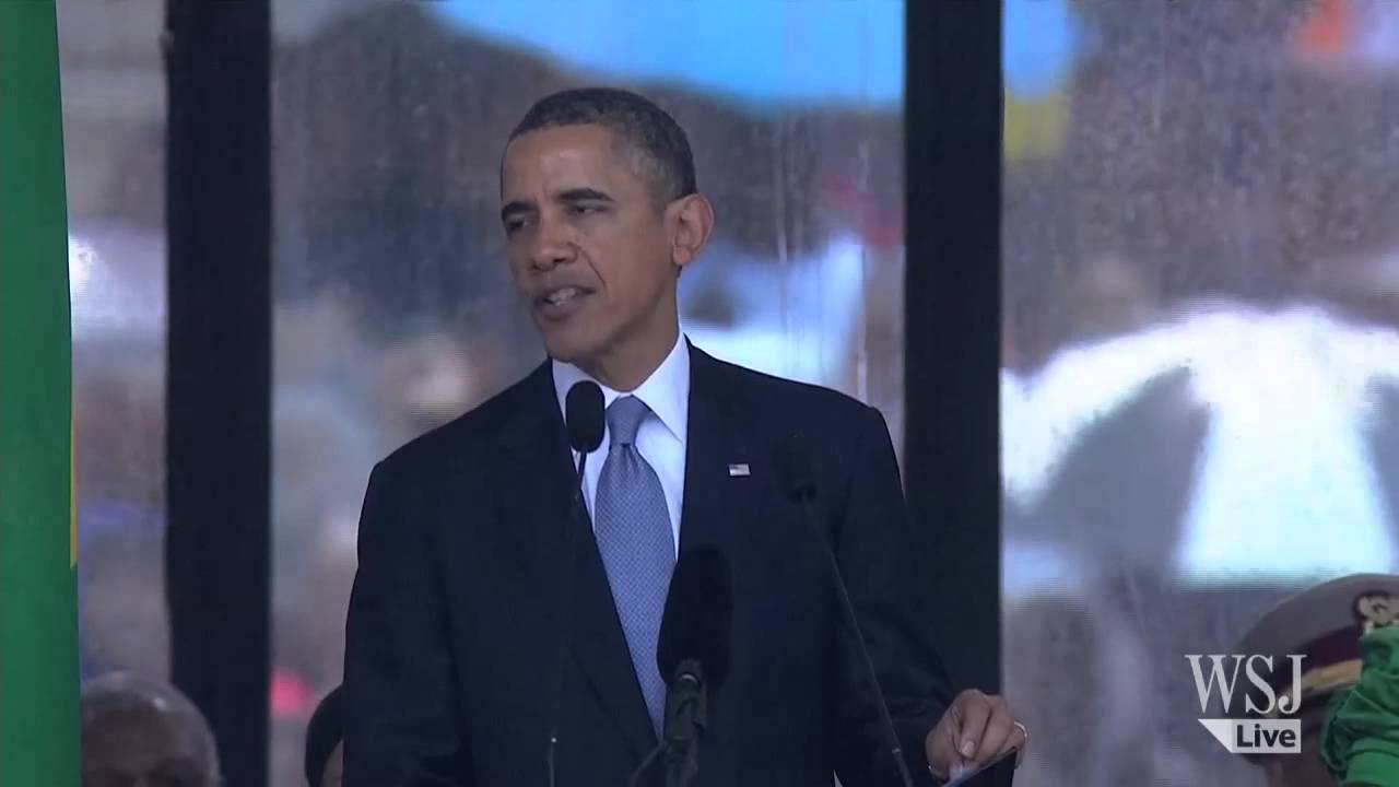 President Obama Speaks at Nelson Mandela's Funeral