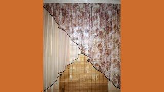 Шьём шторы на кухню(Мастер-класс по пошиву штор из шифона на кухню своими руками. Подписка на канал: http://goo.gl/sBj4vm., 2015-07-09T10:06:12.000Z)