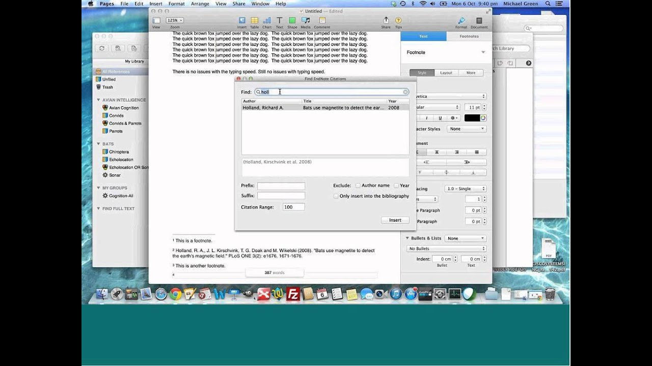 endnote plugin for mac pages