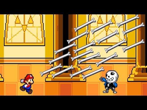 Mario vs Sans. Super Mario vs Undertale