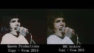 Queen - Live at the Rainbow 1974/03/31 [VIDEO COMPARISON]