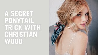 Hair tutorial: Rosie Huntington-Whiteley's secret ponytail trick