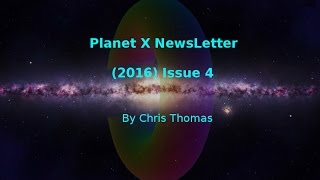 Planet X NewsLetter (2016) Issue 4