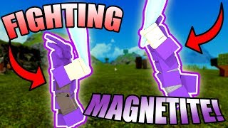 FIGHTING MAGNETITE PLAYERS! | ROBLOX: Booga Booga
