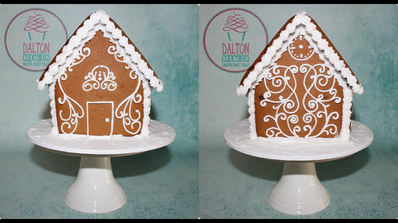 Piped Gingerbread House Design   YouTube