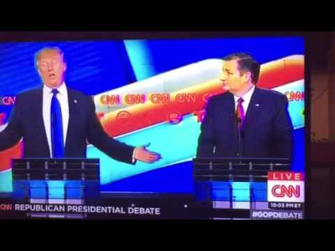 Donald Trump Destroys Ted Cruz On Who Can Beat Hillary Clinton #GOPDebate