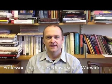 Professor Tim Lockley prepares to discuss Lincoln