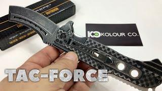 "9"" TAC FORCE Razor Spring Assisted Folding Stonewash Pocket Knife Review"