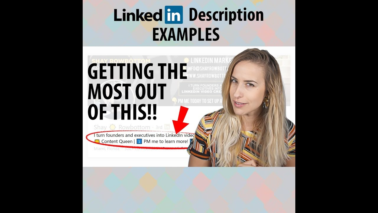 LinkedIn Description Examples
