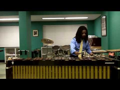 Jay performing Four-Mallet Marimba Solo--Bach