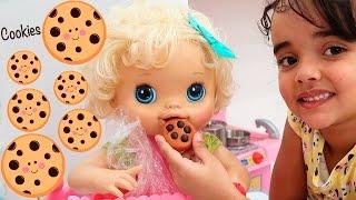 BABYALIVE - Como Fazer COOKIES de brinquedo para boneca