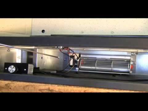 FK24 Fireplace Blower Kit Installation - YouTube