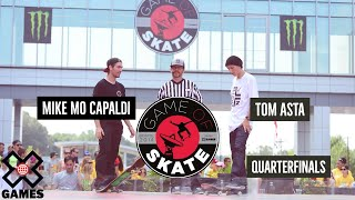 Mike Mo Capaldi vs. Tom Asta - Game of Skate Quarterfinals - ESPN X Games