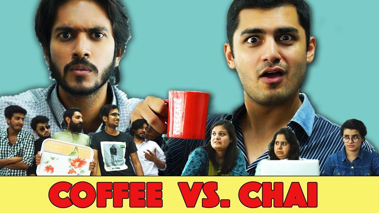 Image result for coffee vs chai mangobaaz