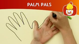 Palm Pals | How to draw Peacock and Cow? | Cartoon for Children - Luli TV