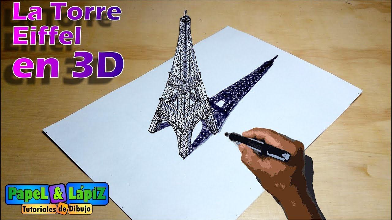Dibuja La Espectacular Torre Eiffel En 3d Youtube