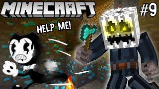 BENDY GETS CHASED BY THE WHITE PUMPKIN! - Bendy Minecraft Adventures [9]