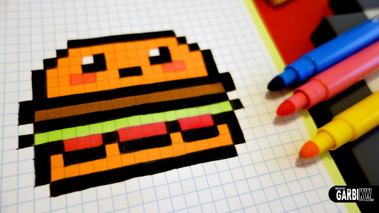 Handmade Pixel Art How To Draw Kawaii Hamburger Pixelart Kawaii