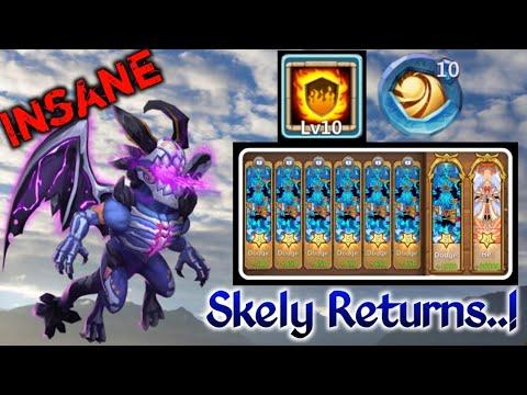 Skeletica Returns | 10/10 Flame Guard | 10 Sacred Light Insignia | Dodge | 5 HC | Castle Clash