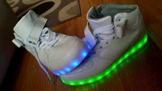 f7ef594b32dd Led Svietiace Tenisky FUNNY CRAZY LED DISCO Colours SHOES for Men and Women  USB FROM Wish