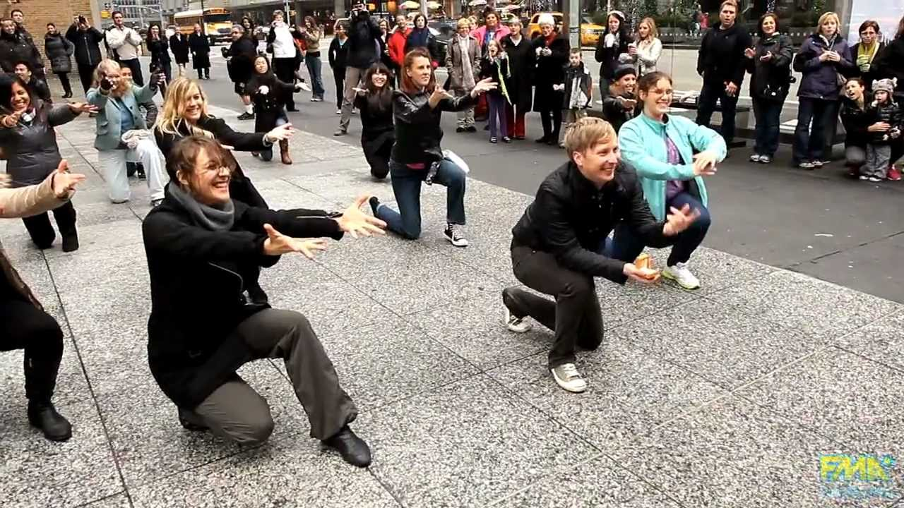 Flash mob wedding proposals