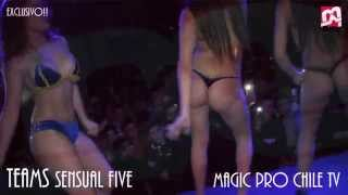 Repeat youtube video SHOW TEAMS SENSUAL FIVE FIESTA TEQUILERA!! CUBRE MAGIC PRO CHILE TV