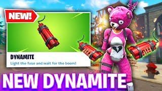 NEW Fortnite Dynamite! - NEW EXPLOSIVE UPDATE (Fortnite Battle Royale)