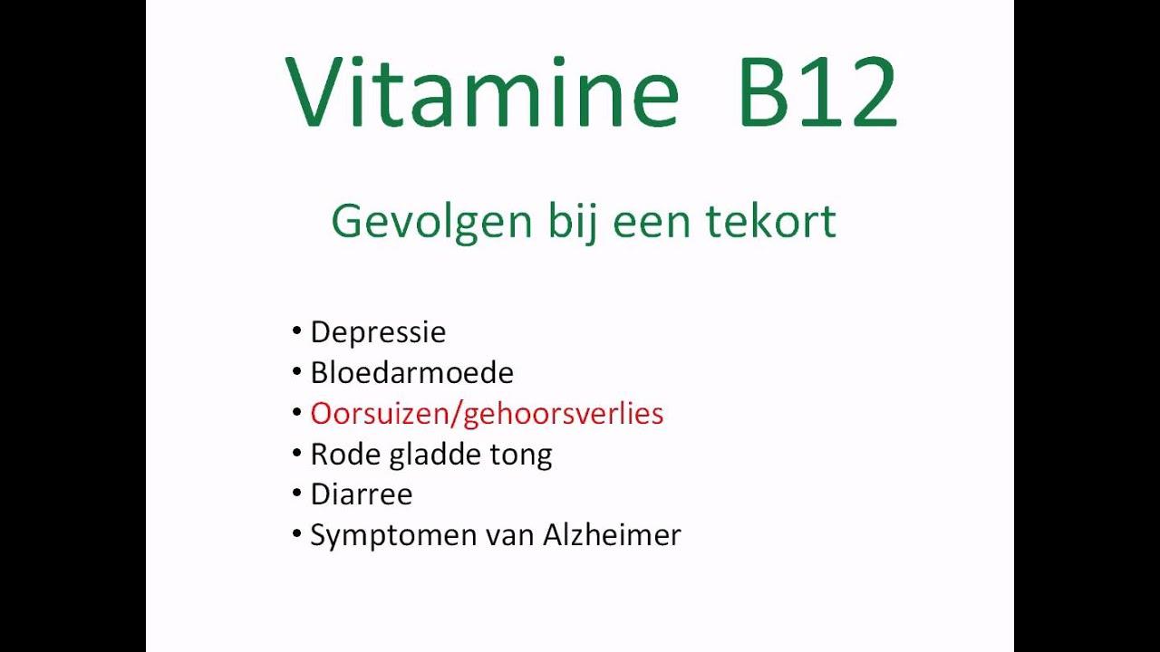 tekort aan b12
