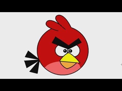 สอนวาดรูปการ์ตูน นกแองกรี้เบิร์ด Angry bird ด้วยโปรแกรม MS PAINT