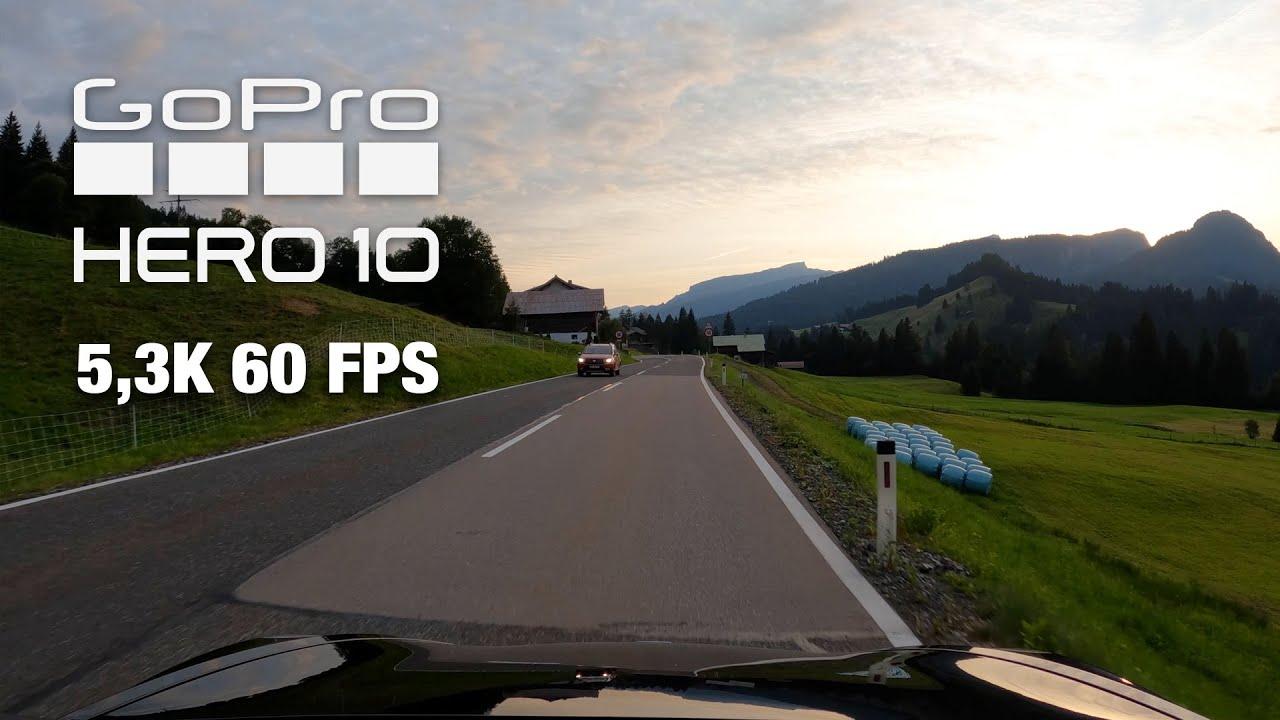 GoPro Hero10 Black Footage - Video in 5,3 K 60 FPS Auflösung