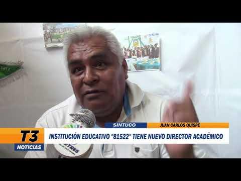 """INSTITUCIÓN EDUCATIVA  """"81522"""" TIENE NUEVO DIRECTOR ACADÉMICO"""