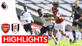 Arsenal 1-1 Fulham | Premier League Highlights | Last minute Nketiah goal cancels out Maja's penalty