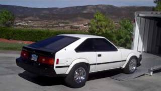 1982 celica supra mk2 with 88mm y2k turbo and 2 speed toyoglide e85 2nd gen aem ecu