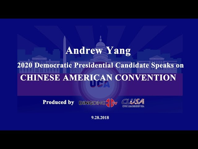 The First Chinese American Presidential Candidate: Andrew Yang