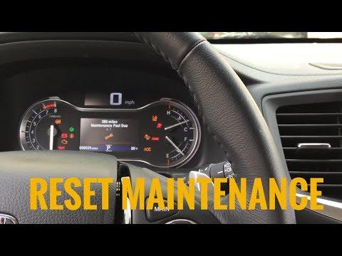 Reset Maintenance 2016 Honda Pilot - Oil Life change Reset