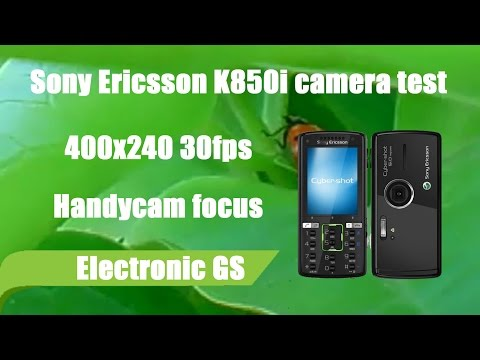Sony Ericsson K850i test camera 400x240 30fps Handycam focus