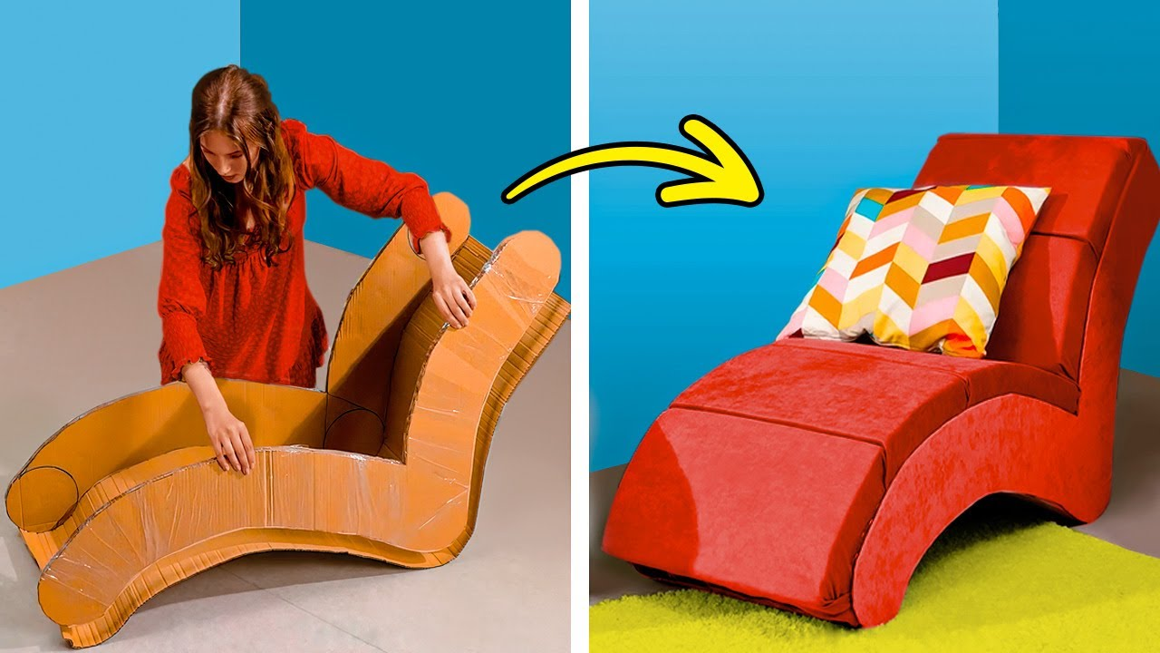 Easy Ways to Make Furniture From Old Boxes And Egg Trays || Cozy Home Decor Ideas!