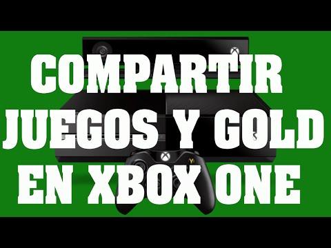 Como compartir juegos digitales y suscripción Gold en Xbox One