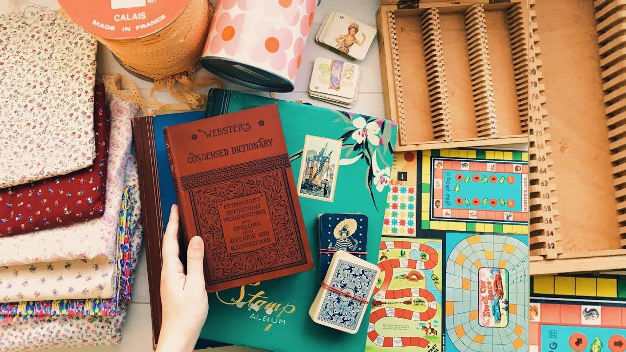 Thrift Store Haul   Craft Supplies   Junk Journal Supplies 05