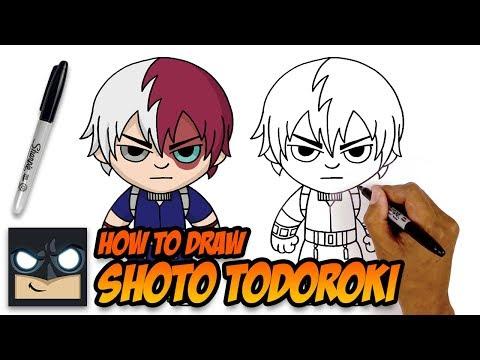 How To Draw Shoto Todoroki My Hero Academia Youtube