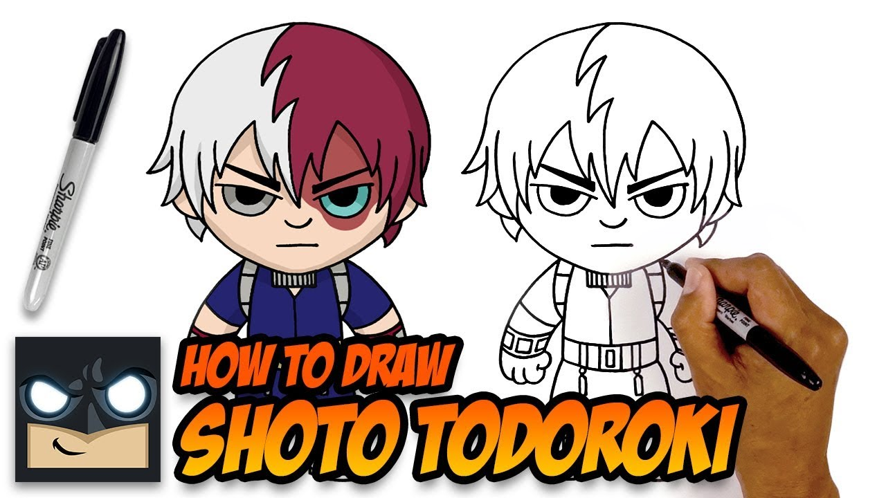 How To Draw Shoto Todoroki My Hero Academia