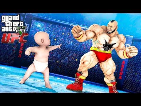 РЕБЕНОК НА БОЯХ БЕЗ ПРАВИЛ UFC В ГТА 5 МОДЫ! ММА ЧЕМПИОНАТ ОБЗОР МОДА GTA 5! ГТА МОД ИГРЫ MODS