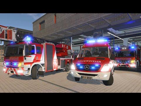 Emergency Call 112 - Truck Fire + Cat. 1 Fire Alarm in Frankfurt! 4K
